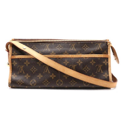 Louis Vuitton Popincourt Long Bag in Monogram Canvas and Vachetta Leather