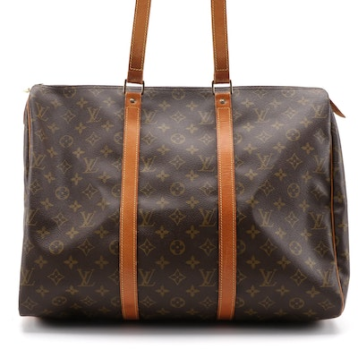 Louis Vuitton Sac Flanerie 45 Bag in Monogram Canvas and Vachetta Leather