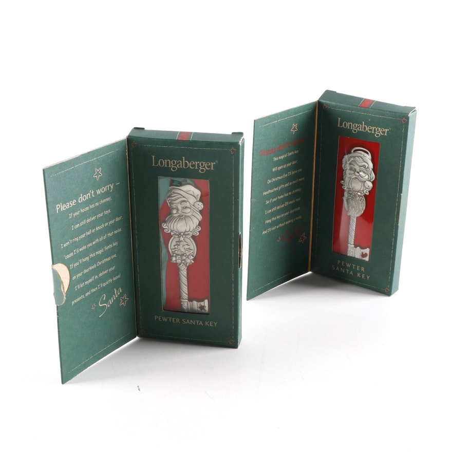 Longaberger Decorative Pewter Santa Keys, 2001–2002