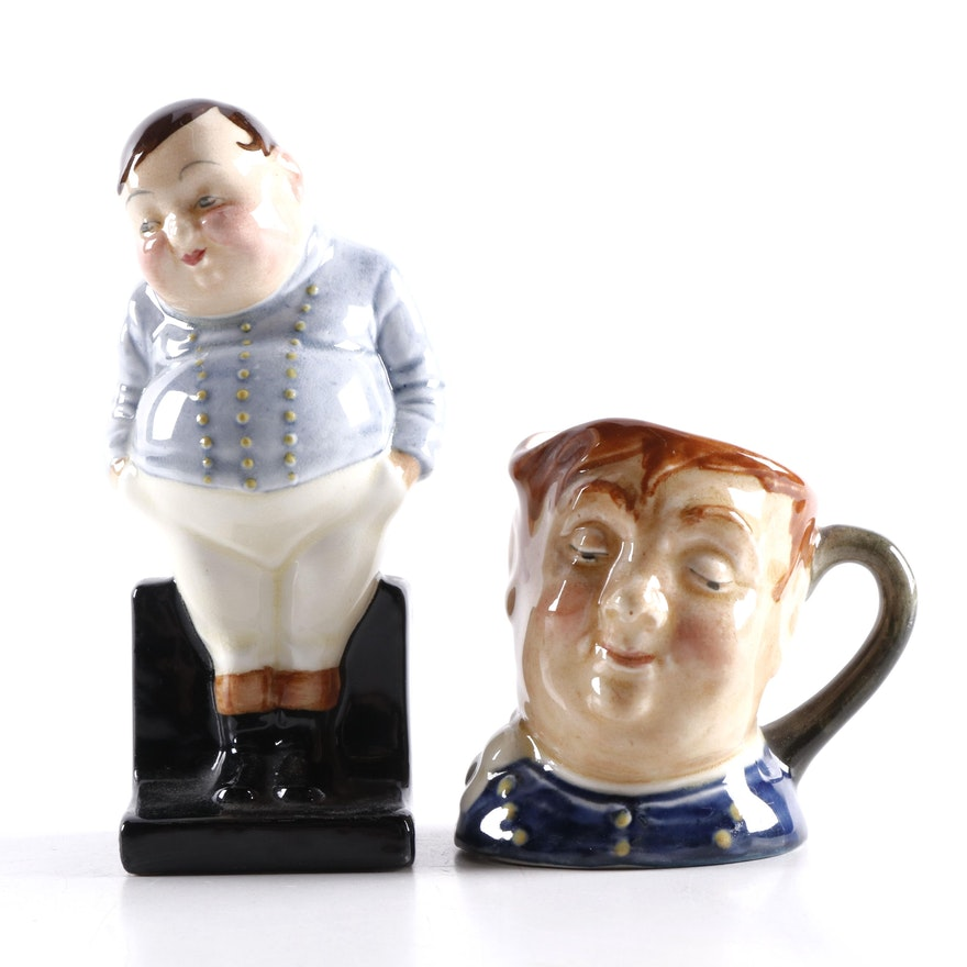 "Royal Doulton ""Fat Boy"" Figurine and Miniature Character Jug"