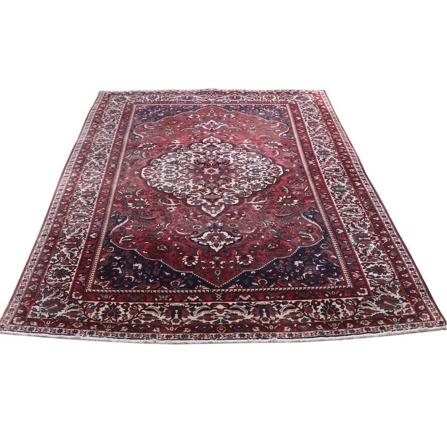 8'8.5 x 12'10 Hand-Knotted Persian Bakhtiari Wool Rug