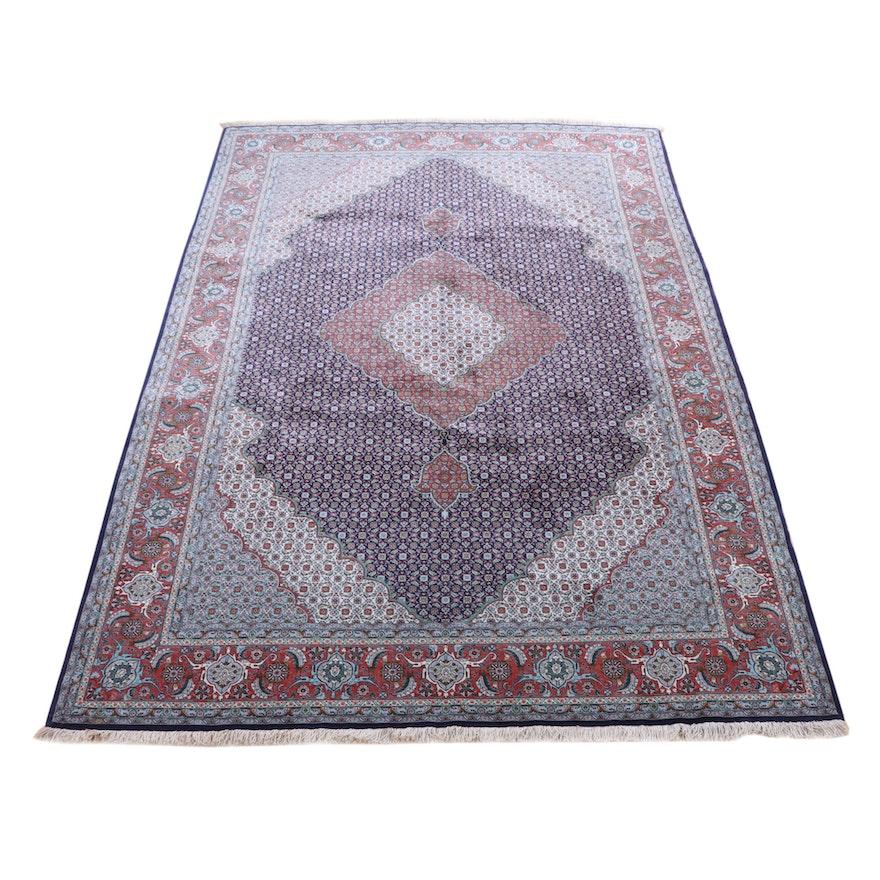 6'7 x 10'9 Hand-Knotted Persian Bijar Wool Rug
