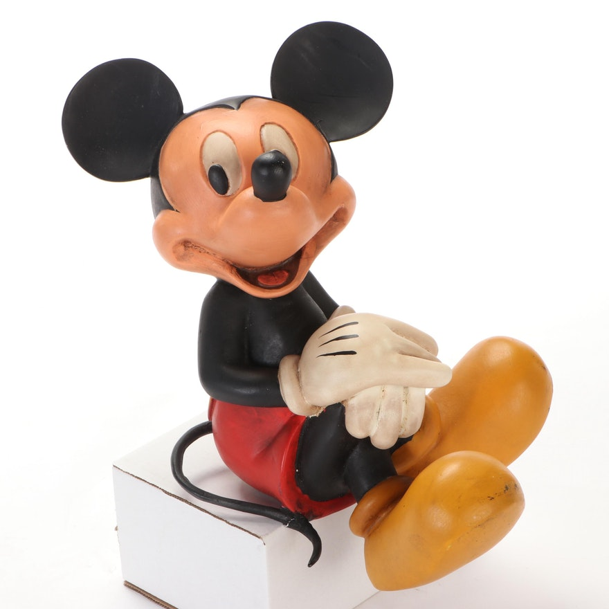 Walt Disney Sitting Mickey Mouse Statuette, Mid to Late 20th Century