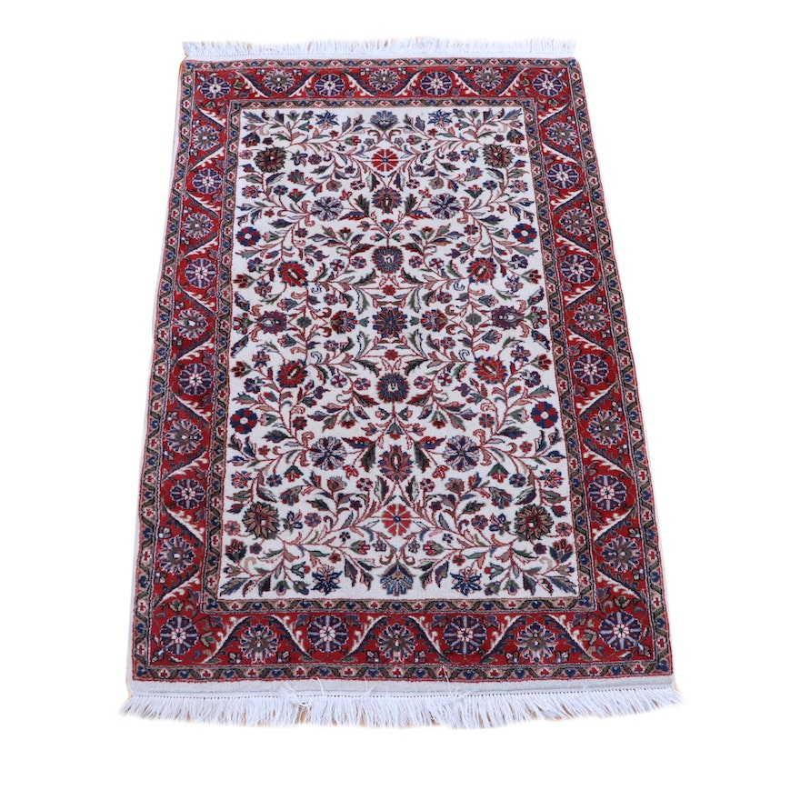 4' x 6'7 Hand-Knotted Persian Tabriz Wool Rug