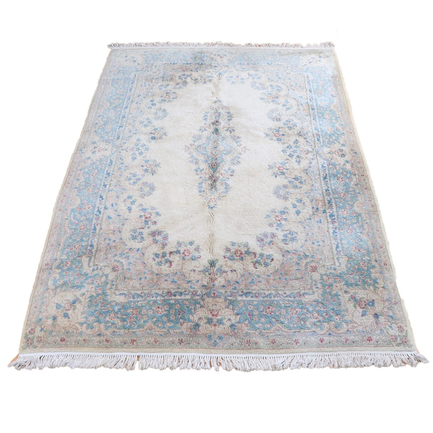 5'11 x 11' Hand-Knotted Persian Kashan Wool Rug