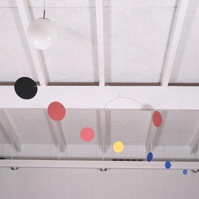 "Julie Frith Art Mobile ""Doppler"" and Stabile ""Tempo"""