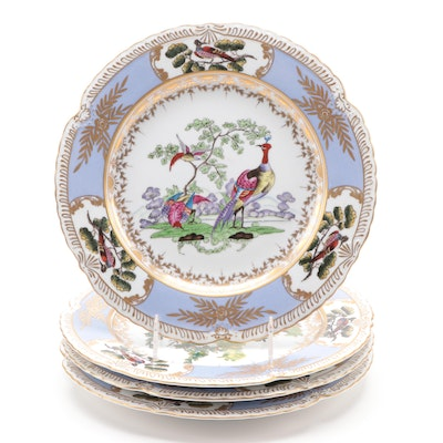 Chelsea House Porcelain Cabinet Plates with Avian Motifs