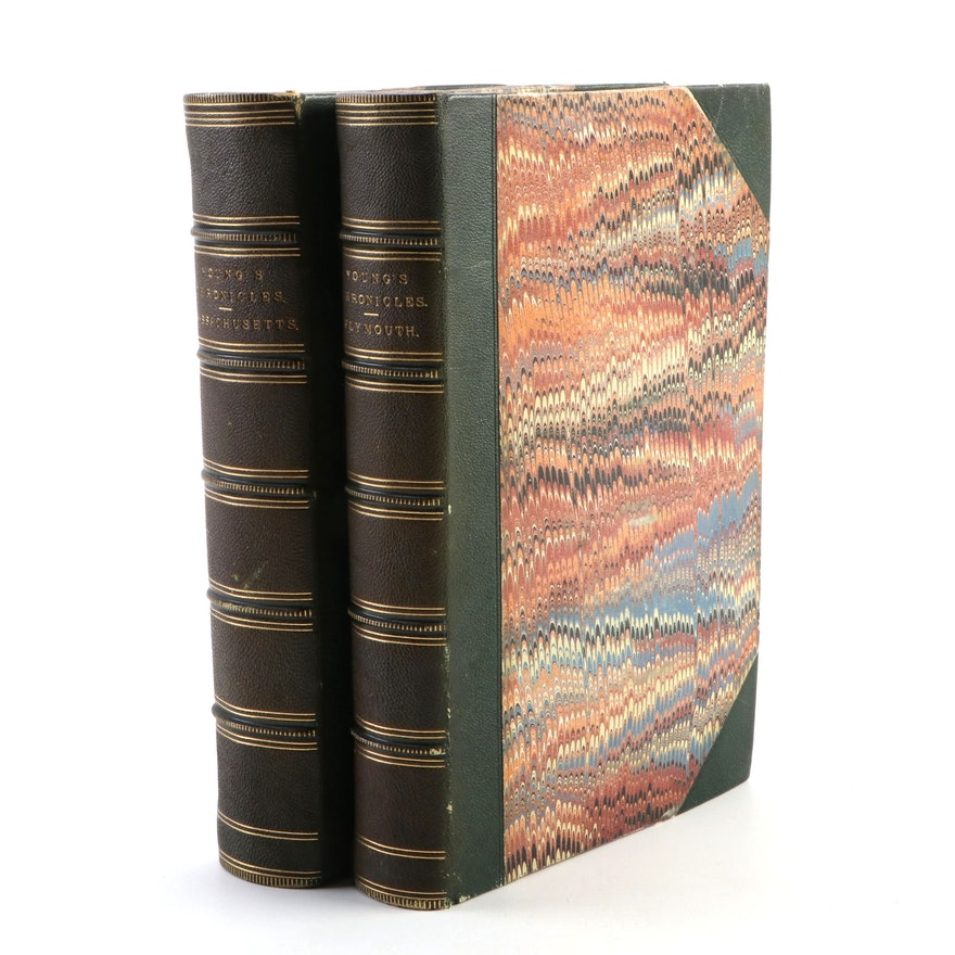 """""""Chronicles of Plymouth"""" and """"Chronicles of Massachusetts"""" by A. Young, 1844–46"""