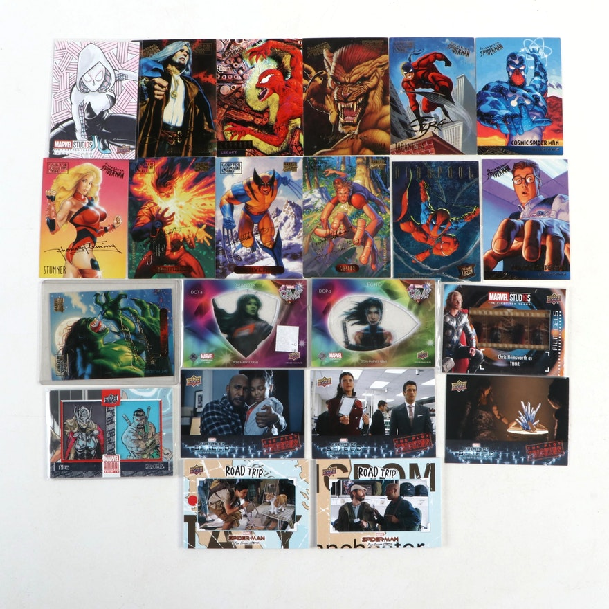 Marvel Trading Cards, Including Autographed Sketch Card and Thor Patch Card