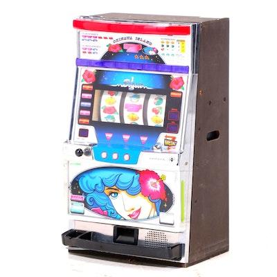 "Pioneer Ltd. ""Okinawa Island"" Okislot Machine with Tokens"