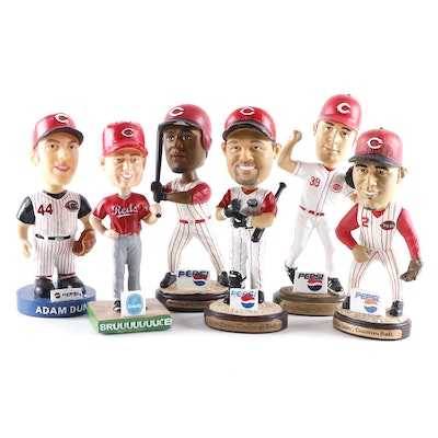 Cincinnati Reds Bobblehead Dolls with Boxes Including Casey, Dunn, and More