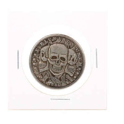 "Novelty ""Three Faces of Death"" Fantasy Coin"