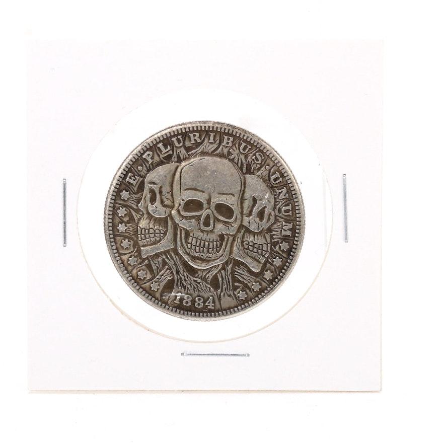 "Novelty ""Three Faces of Death"" Fantasy Coin"