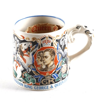 Burleigh Ware Coronation King George VI Commemorative Cup, 1937
