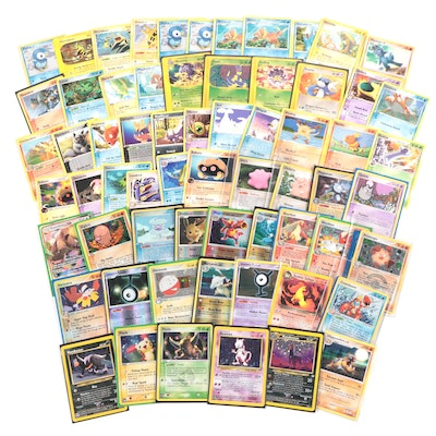 1990s Mewtwo and Other Pokémon Cards