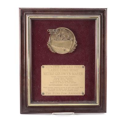 "Samuel Marx's Genesis Award for ""Lassie Come Home"""