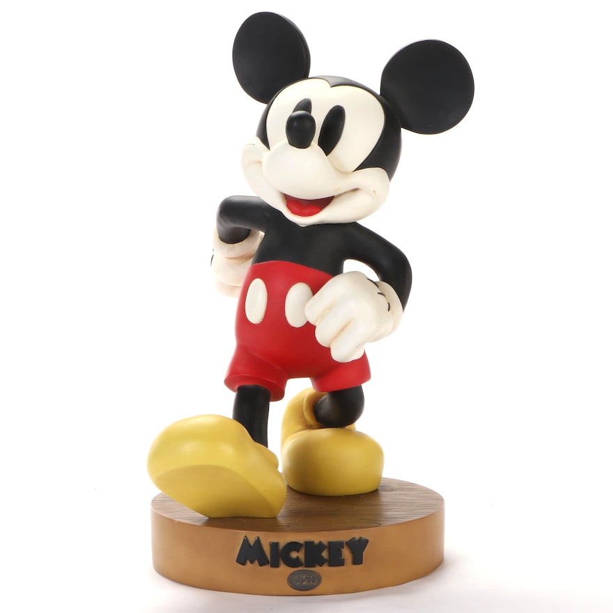 """Walt Disney """"Mickey 1928"""" Statuette with Stand"""