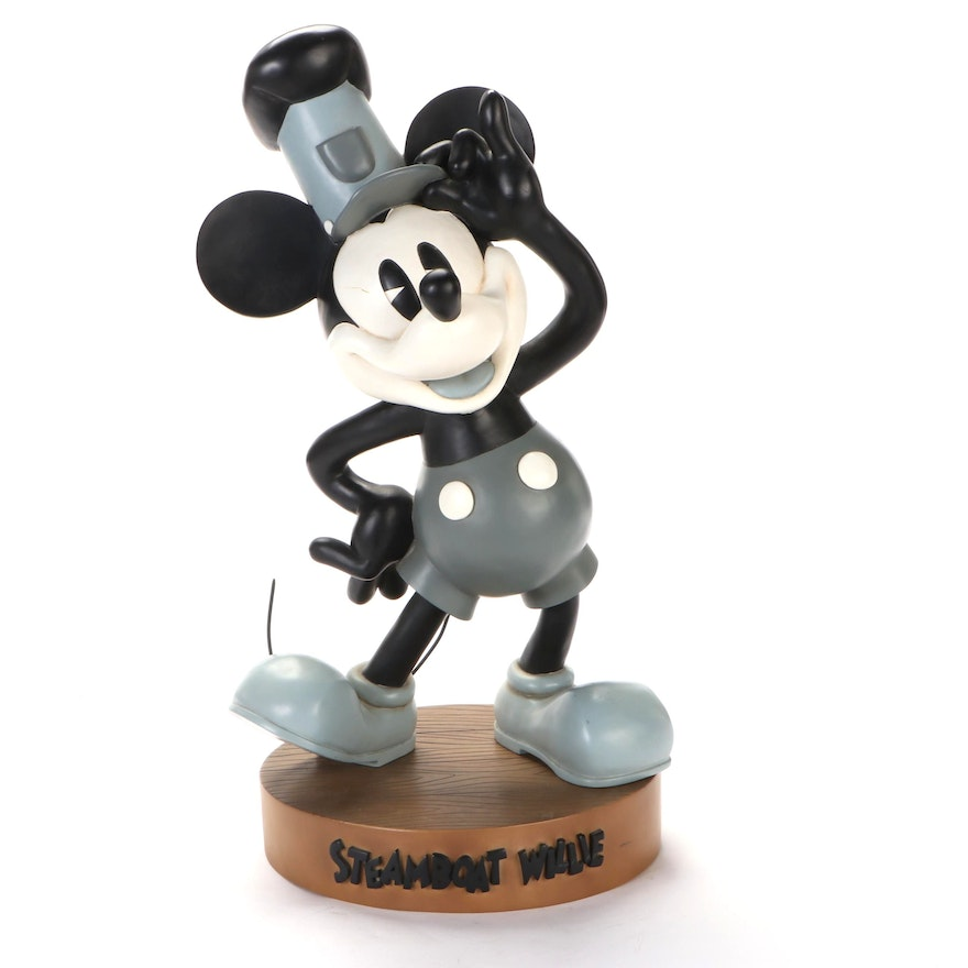 Walt Disney Steamboat Willie Statuette with Stand