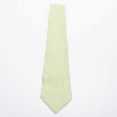 Hermès Paris 758734 T Woven Silk Necktie, Vintage
