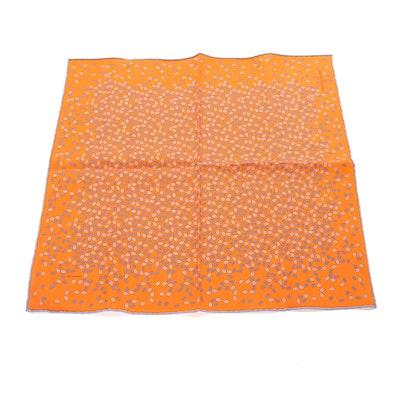 Hermès Paris Patterned Silk Twill Pocket Square