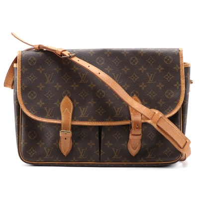 Louis Vuitton Sac Gibeciere GM in Monogram Canvas and Vachetta Leather