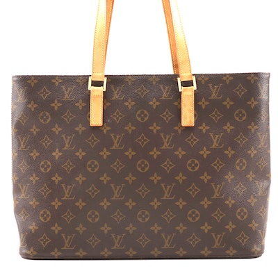 Louis Vuitton Luco Tote in Monogram Coated Canvas and Vachetta Leather