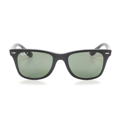 Ray-Ban RB 4195 LiteForce Wayfarer Polarized Sunglasses with Case