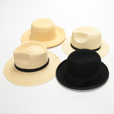 Men's Lock & Co. Hatters Woven Palm, Natural Fiber and Felted Wool Hats
