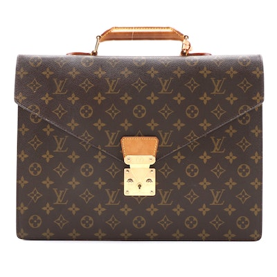 Louis Vuitton Serviette Conseiller in Monogram Coated Canas