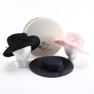 Oleg Cassini, AMY New York and Dowa Summer Hats with Hat Box
