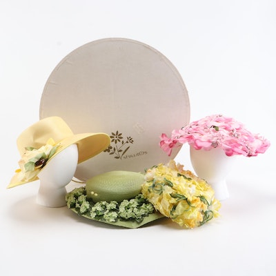 Betmar, Mr. Milton, Noreen and More Floral Embellished Hats with Hat Box