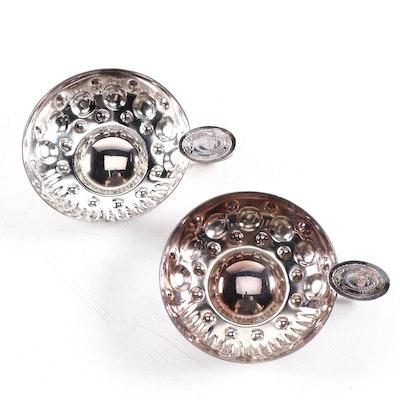 Boulenger French Silver Plate Sommelier Society of America Tastevins