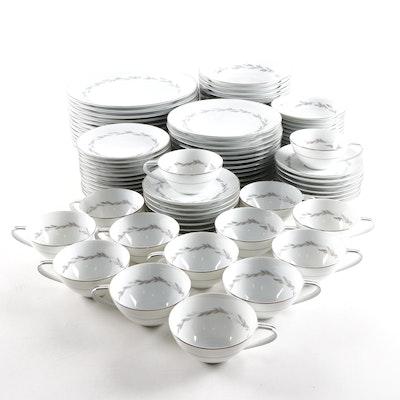 "Japanese Noritake ""Graywood"" Porcelain Dinnerware, Mid to Late 20th C."