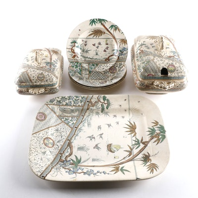 "Gildea & Walker ""Melbourne"" Ironstone Bowls and Serveware, Late 19th Century"