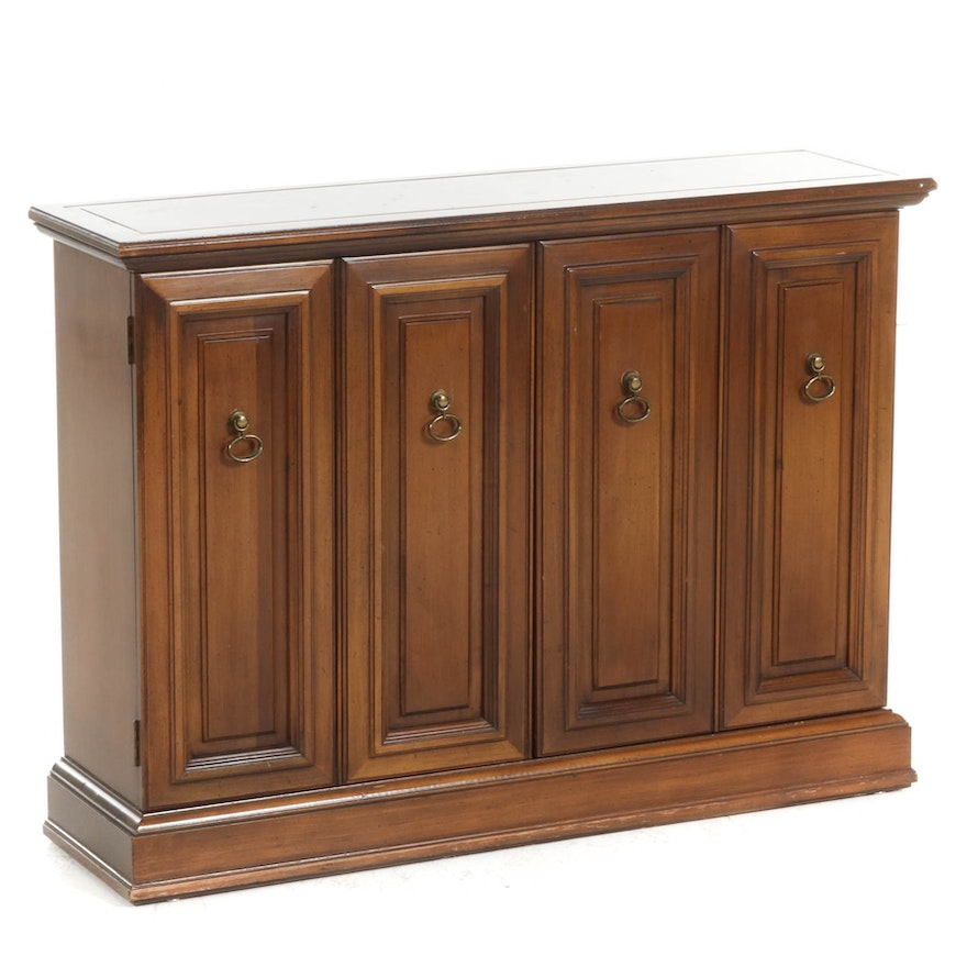Brandt Paneled Two-Door Bar Cabinet, Mid to Late 20th Century