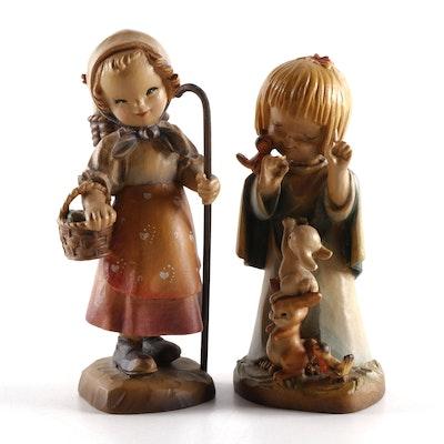 Anri Italian Juan Ferràndiz Series Wood Children Figures