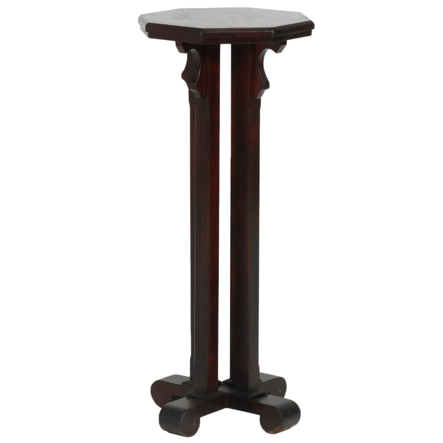 American Empire Mahogany Plant Stand, Late 19th/Early 20th Century
