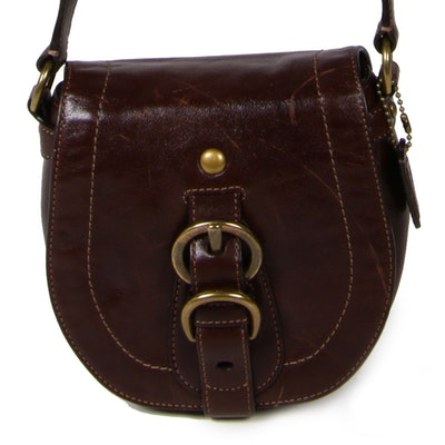 Coach Saddle Bag in Brown Leather