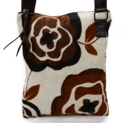Maurizio Taiuti Shoulder Bag in Floral Printed Calf Hair