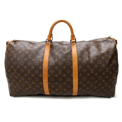 Louis Vuitton Keepall Bandoulière 60 in Monogram Canvas and Vachetta Leather