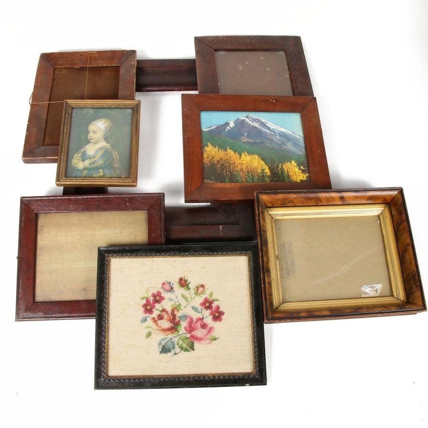Eight Wooden Frames, Antique