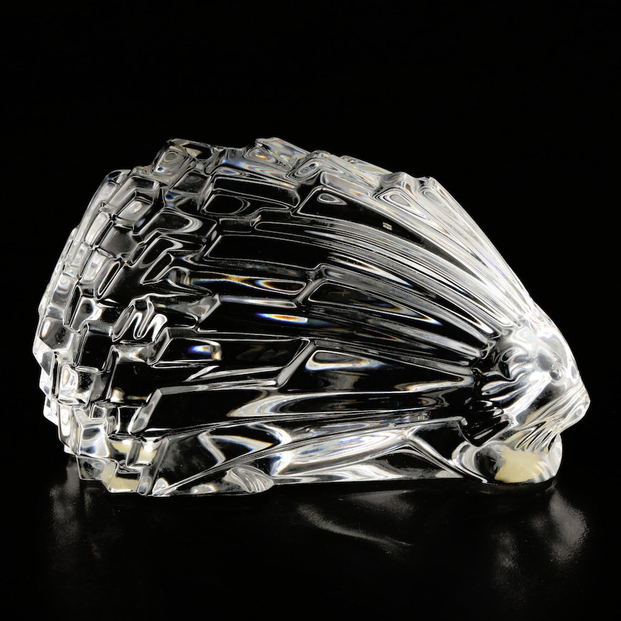 """Baccarat Crystal Art Deco """"Porcupine"""" Paperweight"""