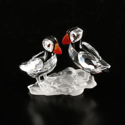 "Swarovski Crystal ""Puffins"" Figurine with Original Packaging"