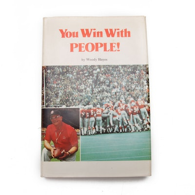 "Signed First Edition ""You Win With People!"" by Woody Hayes, 1973"
