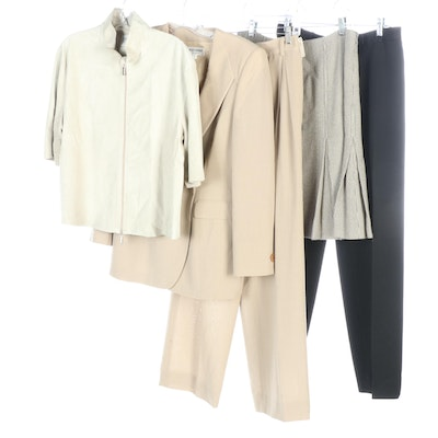 Giorgio Armani Brand Double-Breasted Pantsuit and Other Separates