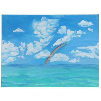"""Gionna Bannister Acrylic Painting """"Sceane,"""" 2020"""