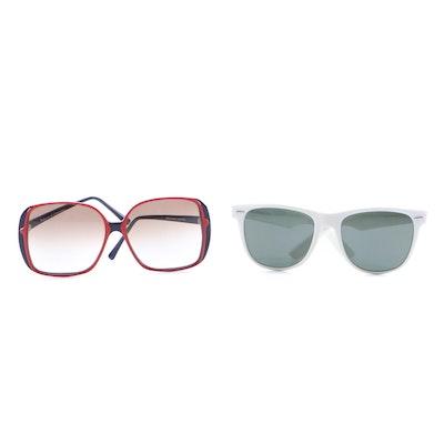 Roberta di Camerino and Ray-Ban Wayfarer II Sunglasses