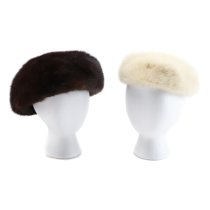 Mink Fur Hats Including Miss Alice from Henry Harris, Vintage