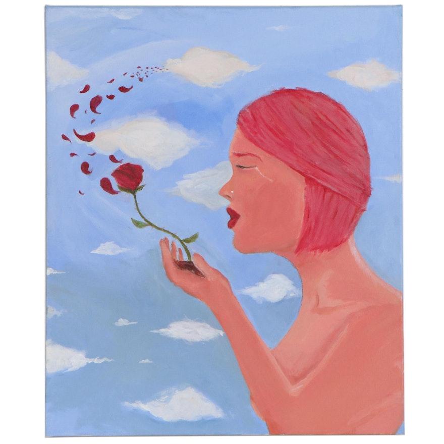"""Drake Pitz Acrylic Painting """"Acceptance,"""" 2020"""