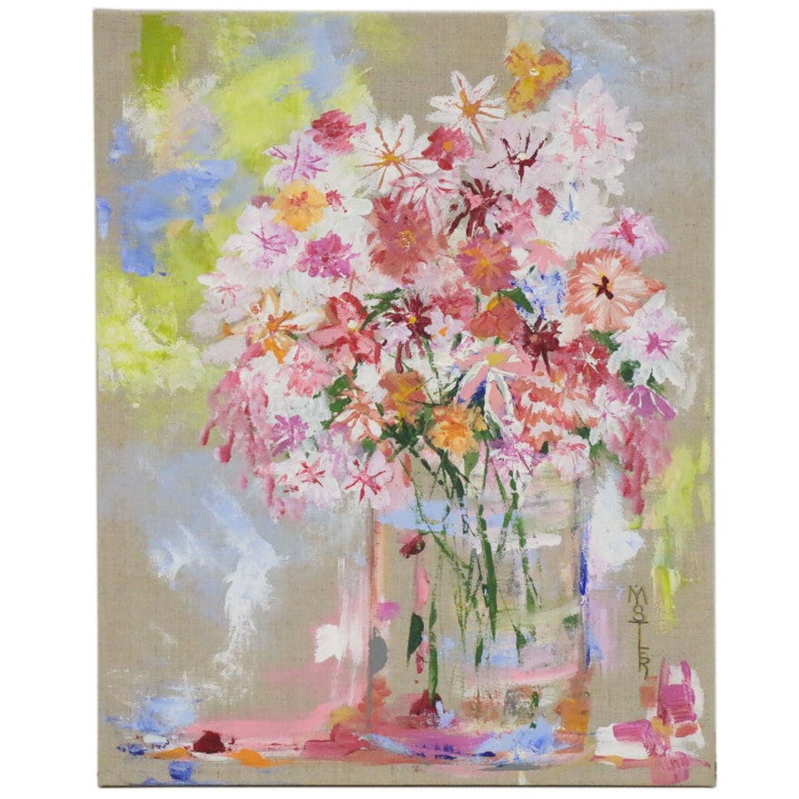 "Debby Mistler Acrylic Painting ""Garden Variety,"" 2020"